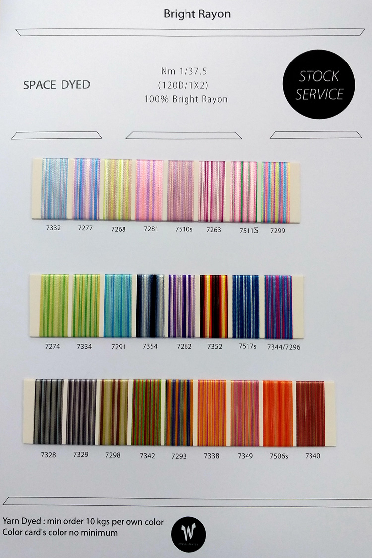 Bright Rayon 120D/1X2 Space Dyed